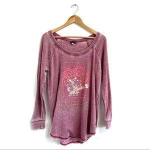TORRID La Calavera Tunic Sweatshirt distressed top